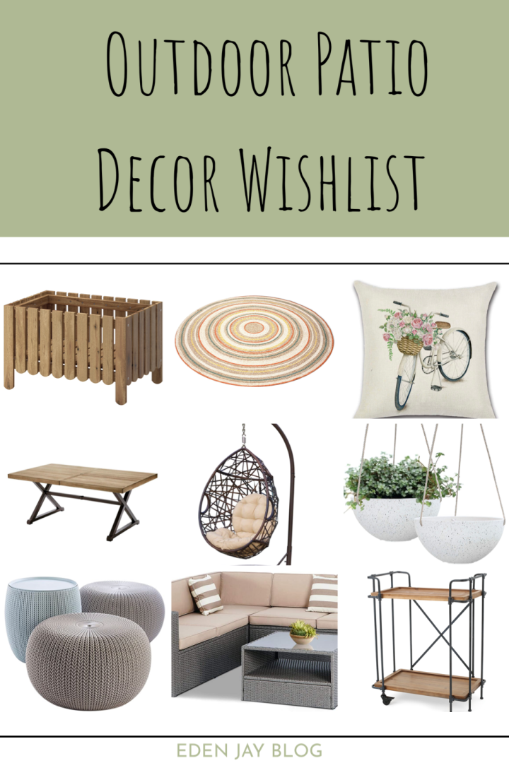 Outdoor Patio Decor Wishlist