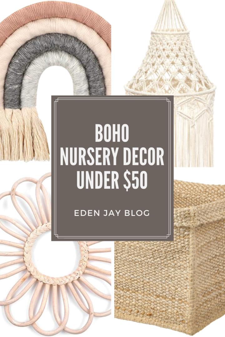 Boho Nursery Decor Under$50