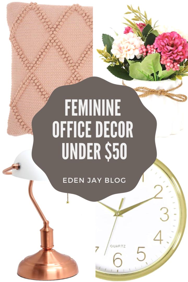 Feminine Office Decor Under$50